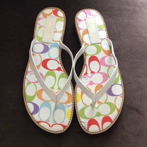 Coach Poppy multi color Dora flip flop. Bran New